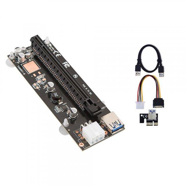 Mining 1x to 16x USB 3.0 Riser Kart - Sata Power