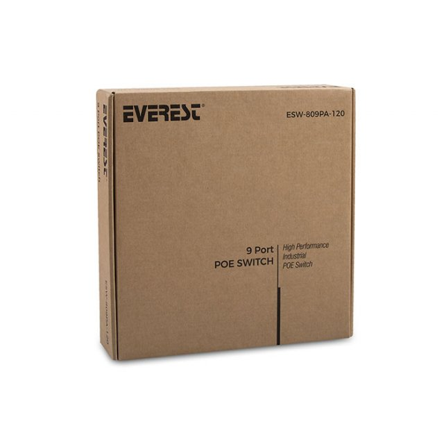 Everest ESW-809PA-120 8+1 Port IEEE 802.3af/at 120W PoE Switch
