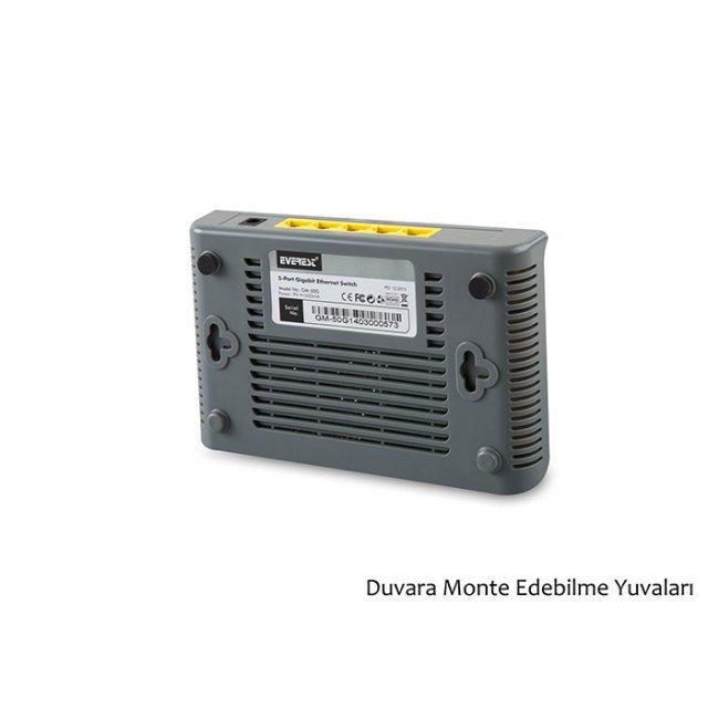 Everest GM-50G 5 Port 1000Mbps Gigabit Ethernet Switch Hub