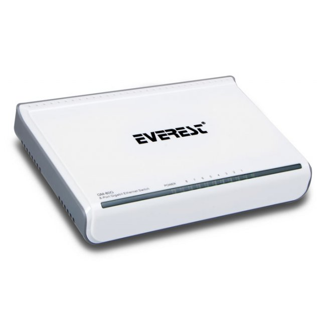 Everest GM-80G 8 Port 1000Mbps Gigabit Ethernet Switch Hub
