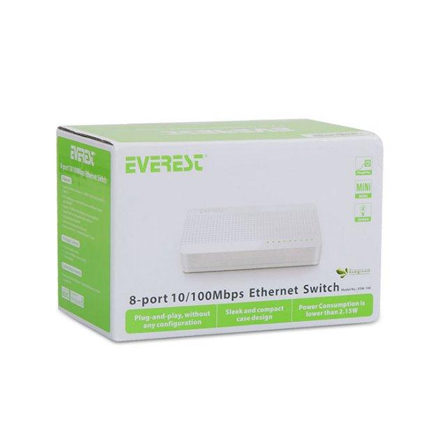 Everest ESW-108 8 Port 10/100Mbps Ethernet Switch Hub