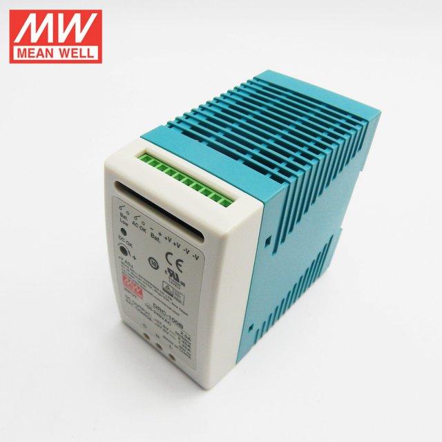 Mean Well DRC-100B 27.6V UPS Fonksiyon Ray Tipi Akü Şarj Aleti