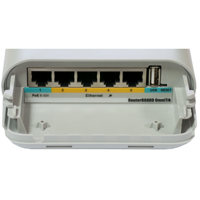 OmniTIK UPA-5HnD  802.3n  360 Derece Omni AP -5 Port PoE Switch