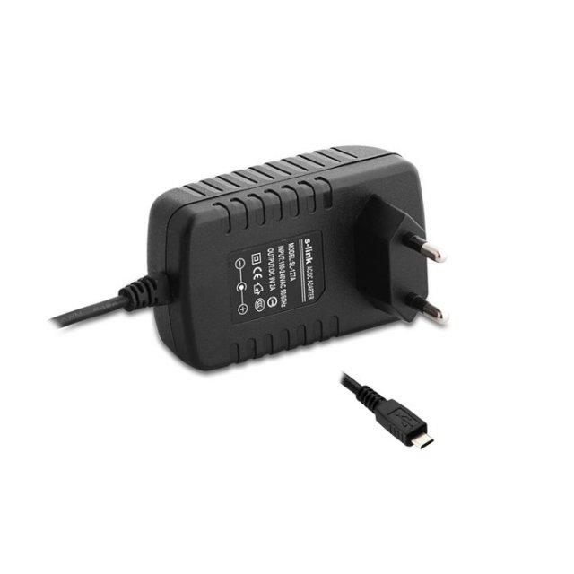 S-link SL-127E 5V 2A Micro Usb Tablet Pc+Akıllı Tel Adaptörü