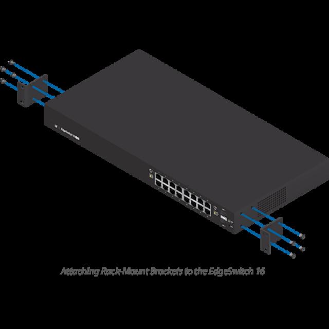 UBNT Ubiquiti EdgeSwitch ES-16-150W 16 Port Gigabit - 2 SFP Yönetilebilir PoE+