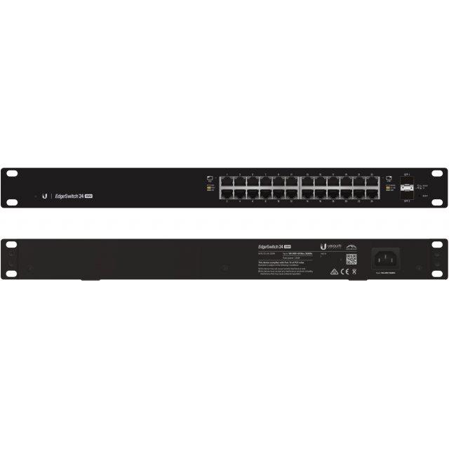 UBNT Ubiquiti EdgeSwitch ES-24-500W  24 Port Gigabit - 2 SFP  Yönetilebilir PoE+