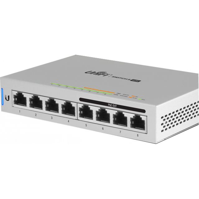 Unifi Managed PoE+ Gigabit Switch ,US-8-60W