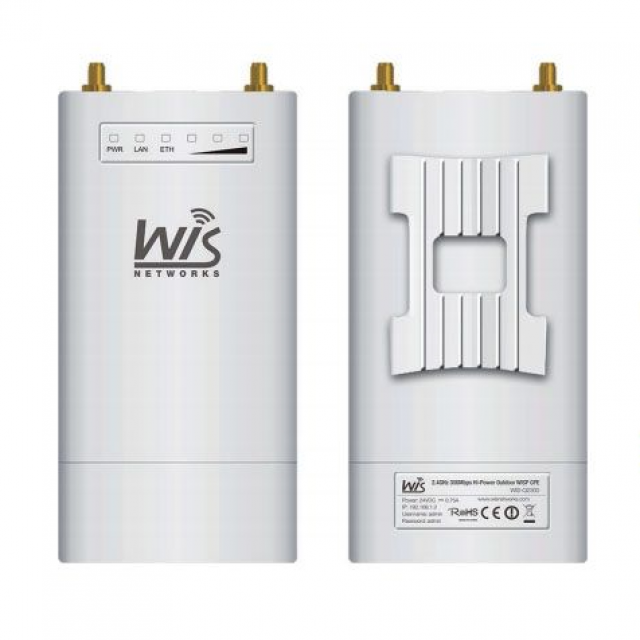 WisNetworks WIS-S2300 2.4 ghz 2*2 MIMO Hi-Power outdoor wireless Baz İstasyonu