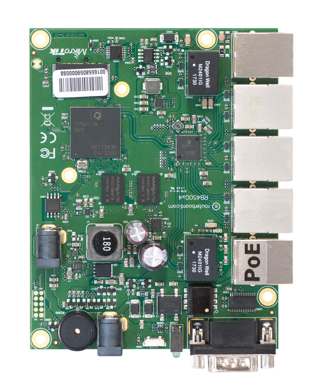 RB450Gx4 Mikrotik RB450Gx4, 5 Gigabit LAN ports, RouterOS L5
