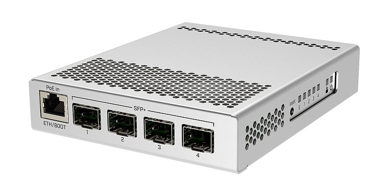 CRS305-1G-4SPlusIN Cloud Router Switch 305-1G-4S+IN (RouterOS L5) 4xSFP+ 10G 1xEth