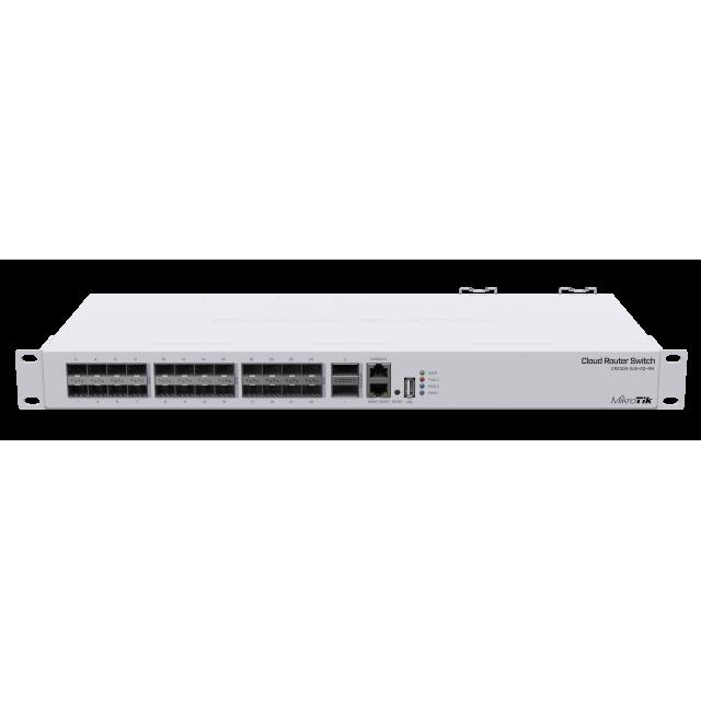 CRS326-24SPlus2QplusRM Cloud Router Switch 326-24S+2Q+RM 24xSFP + 10g, 2xQSFP+ 40G , LCD ,L5 Rack Mount