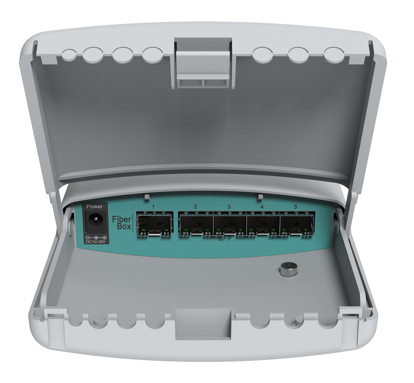 CRS105-5S-FB Cloud Router Switch CRS105-5S-FB Outdoor Layer3, 5x SFP Gigabit,L5