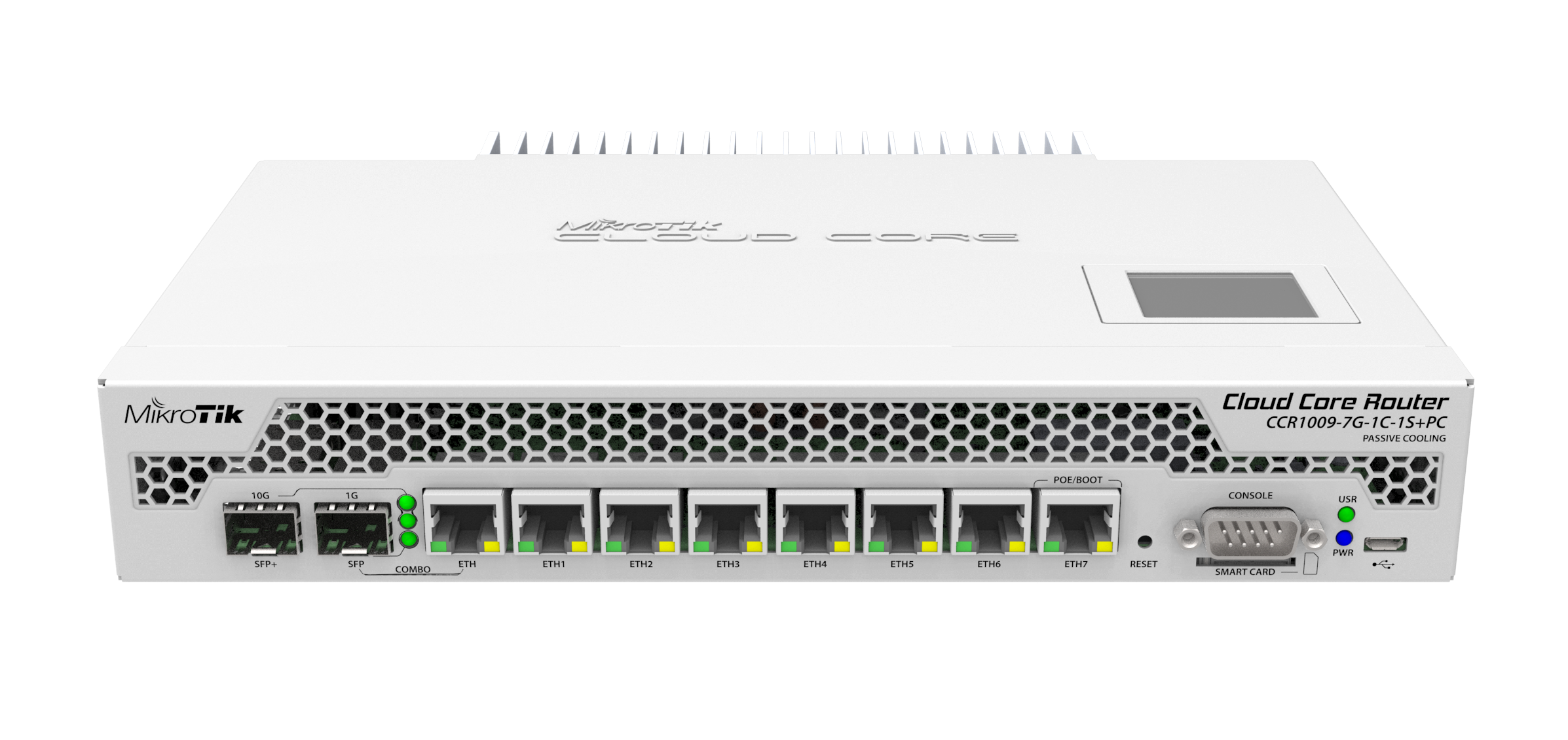 CCR1009-7G-1C-1SplusPC Cloud Core Router 1009-7G-1C-1S+PC 1x Combo Port, 7xGbit LAN , 1xSFP+ 10Gbit, LCD, L6