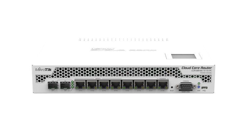 CCR1009-8G-1S-1Splus-pc CCR1009-8G-1S-1S+PC Cloud Core Router