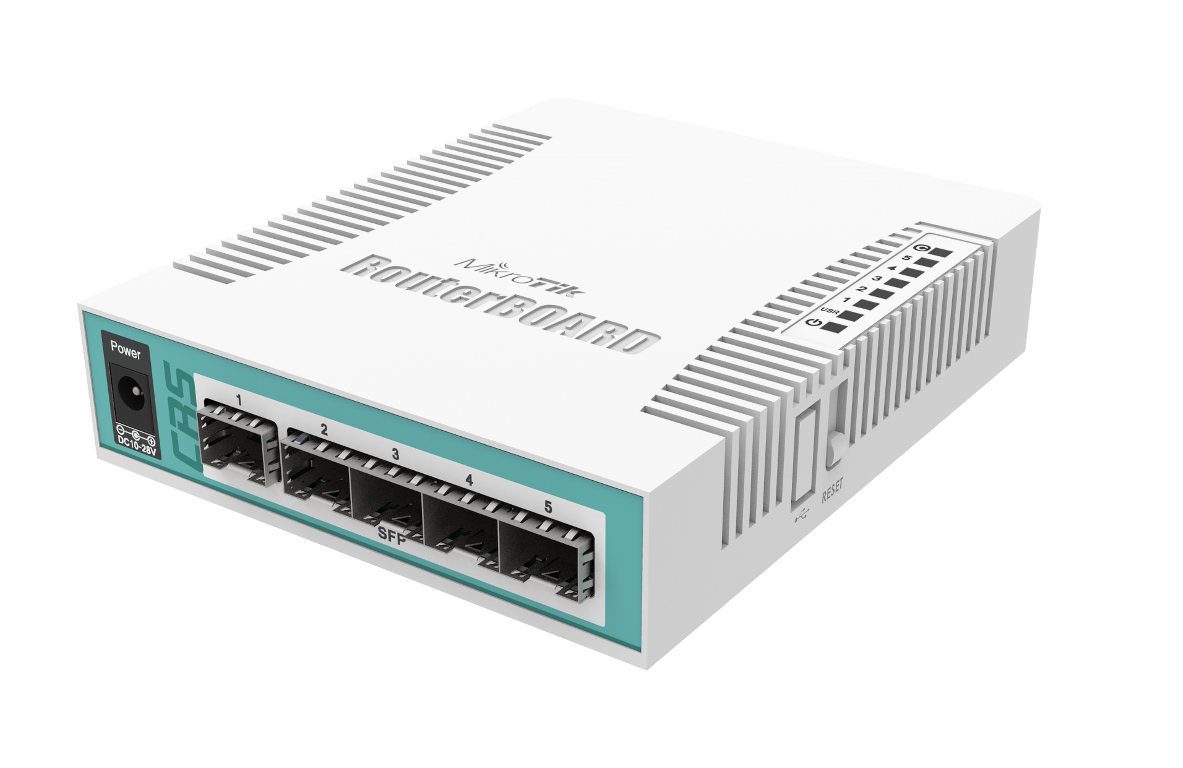 CRS106-1C-5S Cloud Router Switch CRS106-1C-5S Layer3, 5x SFP , 1 Port SFP /Gigabit Combo,L5