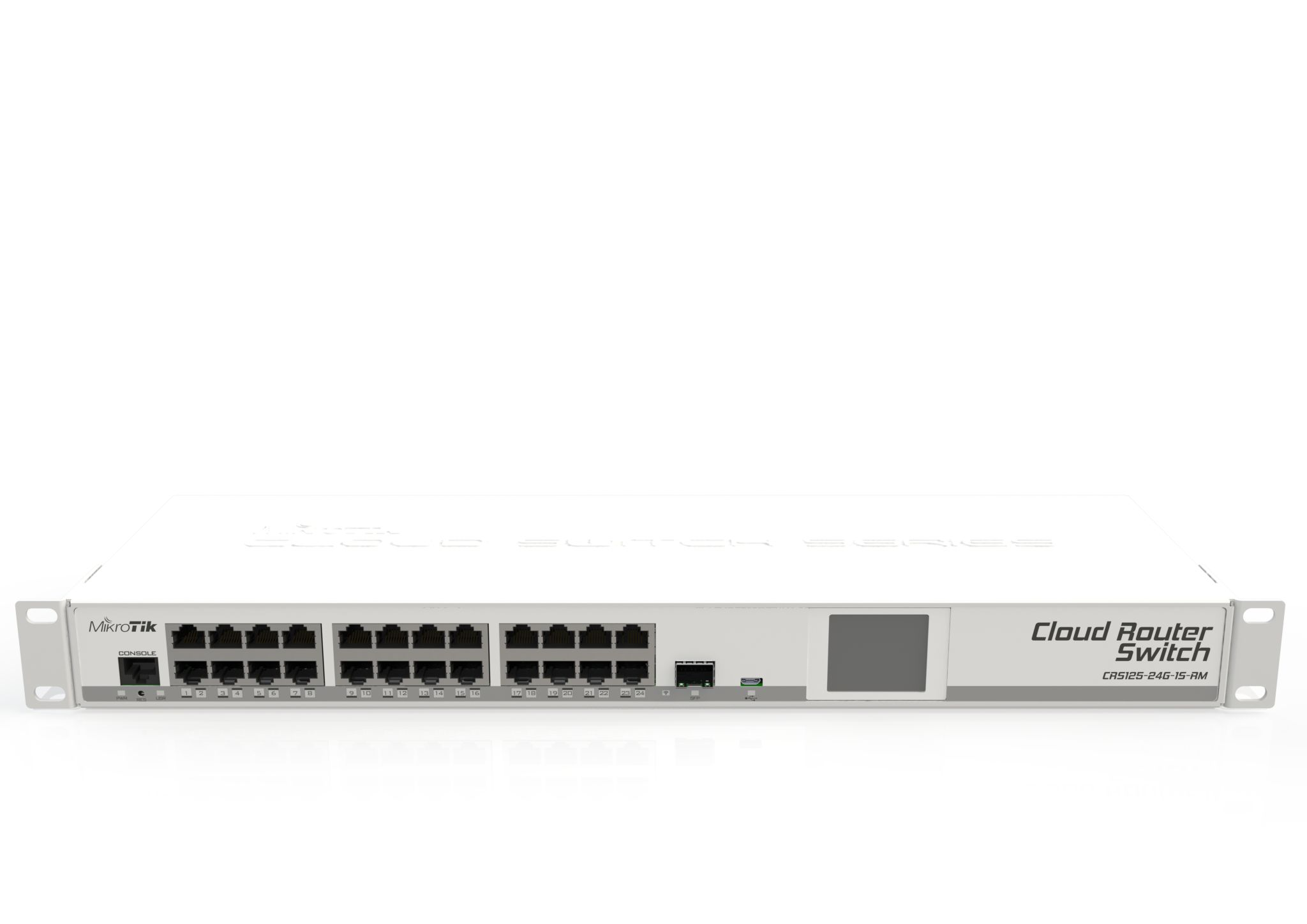CRS125-24G-1S-RM Cloud Router Switch CRS125-24G-1S-RM 24xGbit Lan, 1xSFP, LCD ,L5 Rack Mount