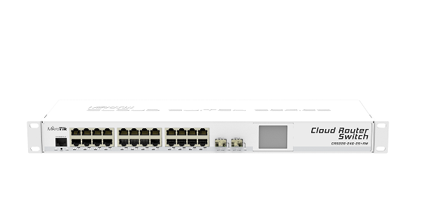 CRS226-24G-2S-PLUS-RM Cloud Router Switch 226-24G-2S+RM 24xGbit Lan, 1xSFP+ 10 Gbit Switch , LCD ,L5 Rack Mount