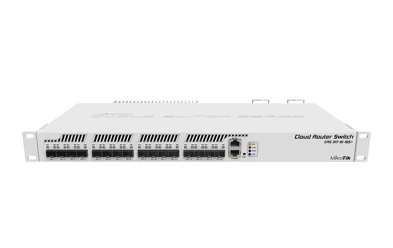 CRS317-1G-16S-PLUS-RM Cloud Router Switch 317-1G-1S+RM 1xGbit Lan, 16xSFP+, L6 Rack Mount