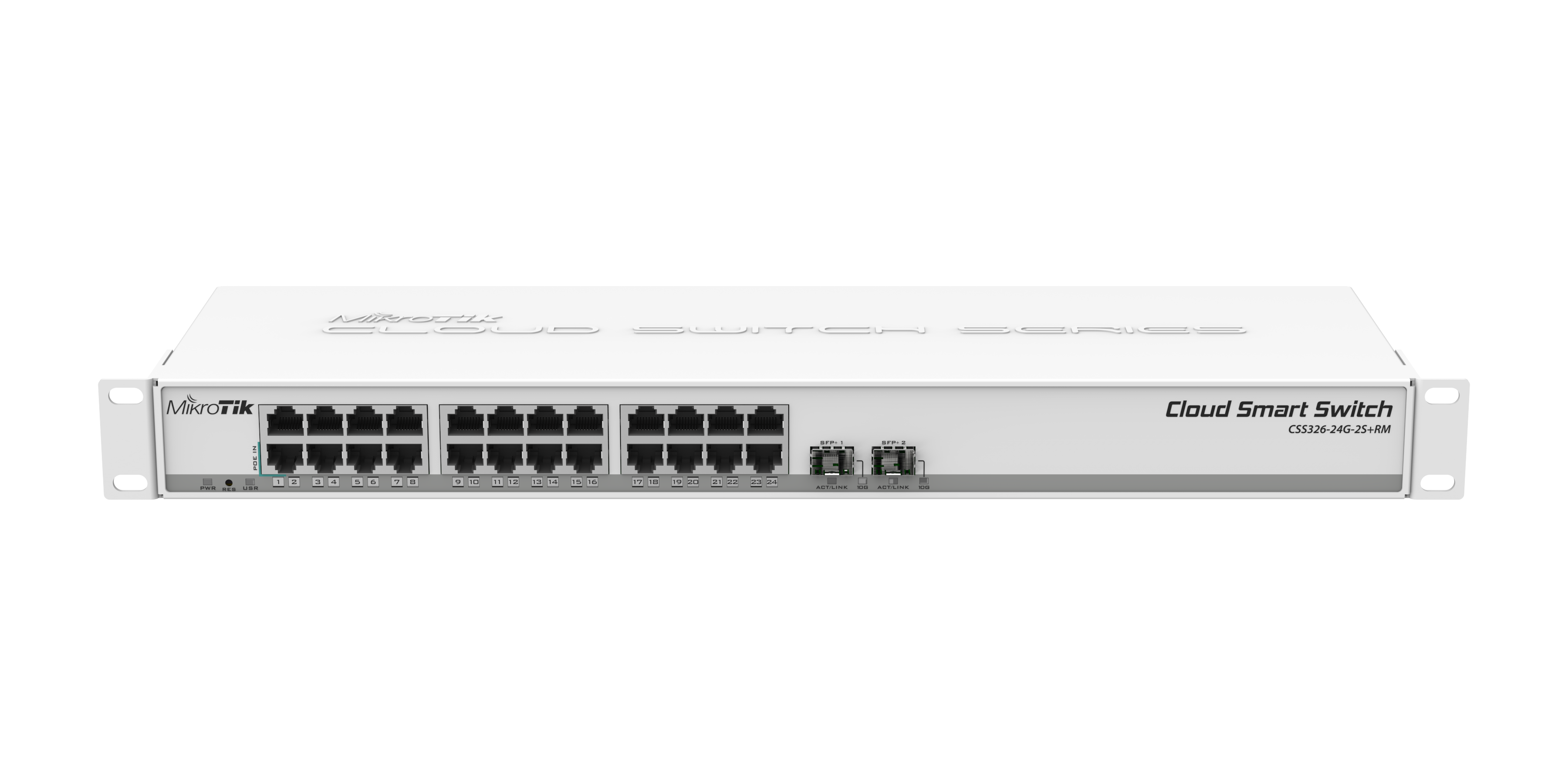 CSS326-24G-2SplusRM CSS326-24G-2S+RM Cloud Smart Switch - SwOS 24 Port Gigabit Eth - 2 SFP+ 10Gbit Port