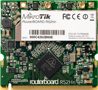 R52Hn 802.11a/b/g/n High Power MiniPCI card with MMCX connectors
