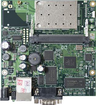 RB411AR RouterBOARD 411, 1 LAN, 1 miniPCI, 2.4GHz Wifi , RouterOS L4