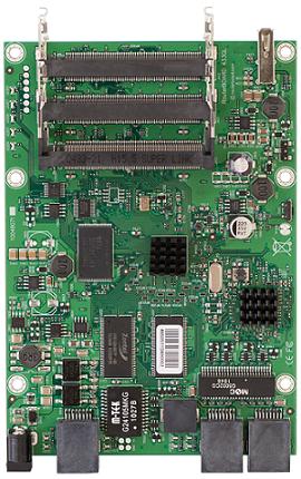 RB433GL RouterBOARD 433GL, 3 Gigabit LAN, 3 miniPCI, USB, RouterOS L5