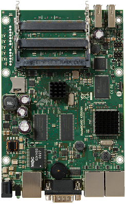 RB435G RouterBOARD 435G, 3 Gigabit LAN, 5 miniPCI, RouterOS L5, 2 USB ports