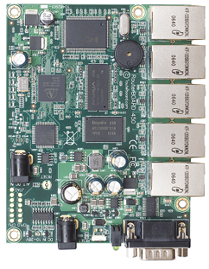 RB450 Mikrotik RB450, 5 LAN ports, RouterOS L5