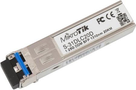 S-31DLC20D Mikrotik S-31DLC20D SFP modül, 1 Gbit ,Single Mod(SM), 1.25G,20km 1310nm