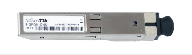 S-GPON-ONU Mikrotik S-GPON-ONU Tek Yonlu SFP, S-35LC20D + S-53LC20D ( TX/RX Modül )