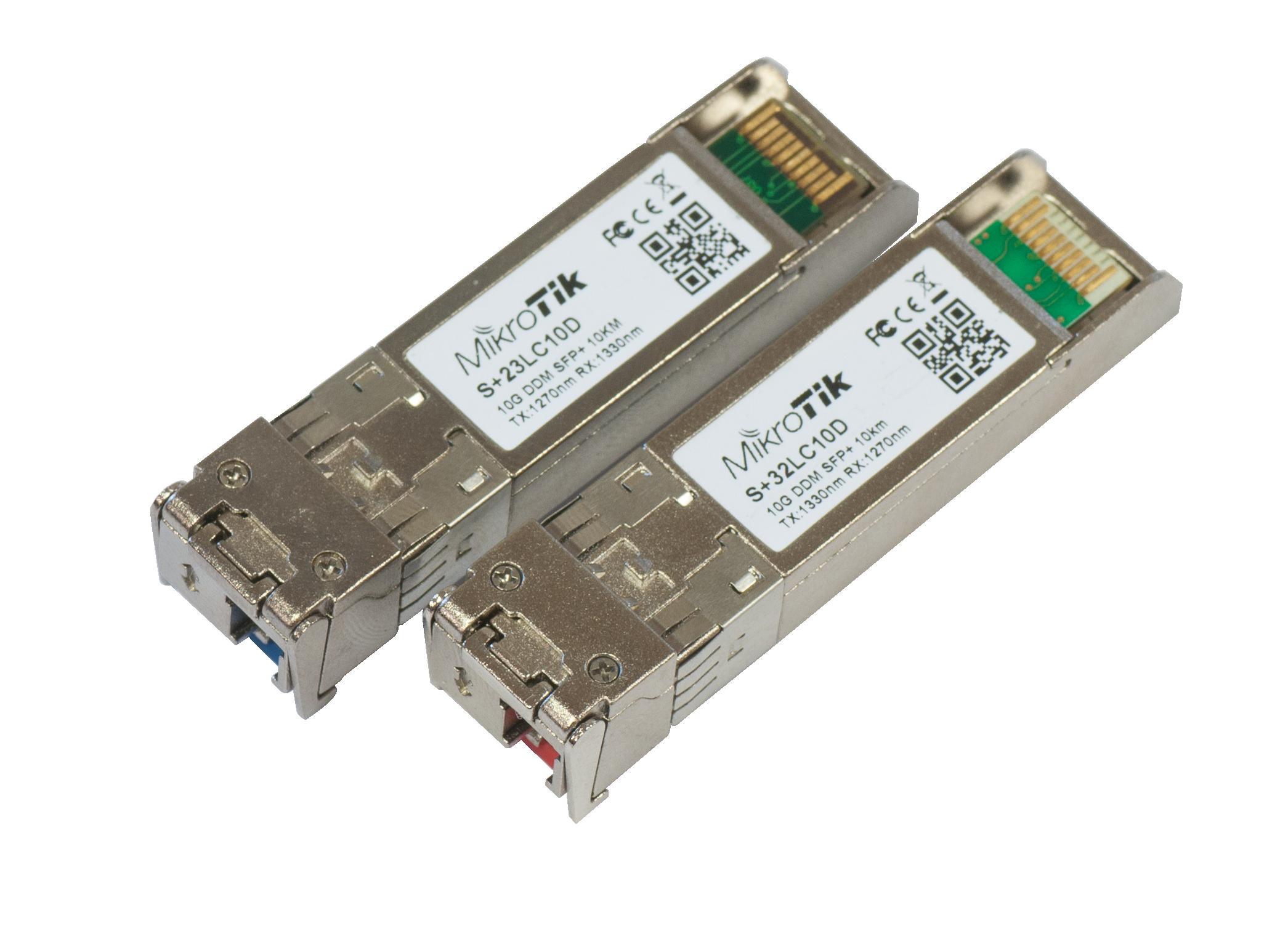 S-2332LC10D Mikrotik S+2332LC10D Tek core SFP+10G , S+23LC10D + S+32LC10D ( TX/RX Modül )