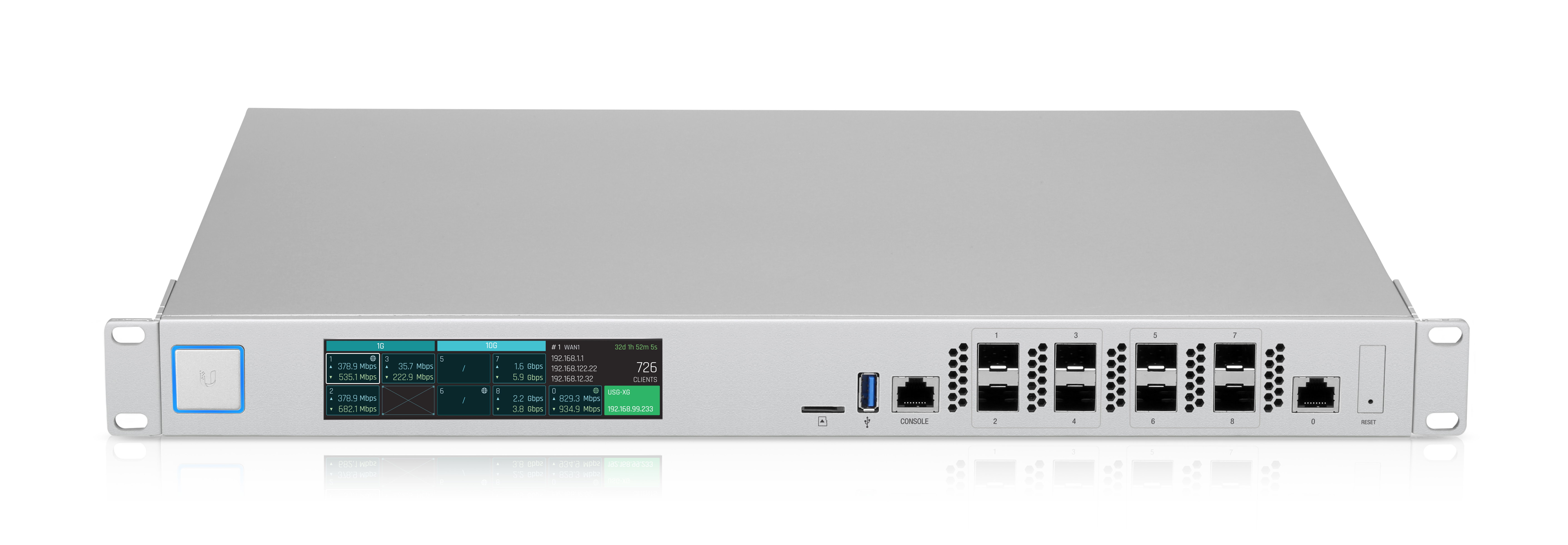 USG-XG-8 UNIFI XG GATEWAY 8x10G SFP+ ,1x Ethernet