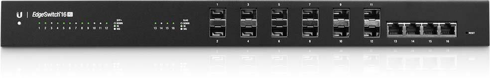 ES-16-XG Ubiquiti Edge Yön. 10 Gbit Core Switch 12x10Gbit SFP+ 4x10Gbit Eth