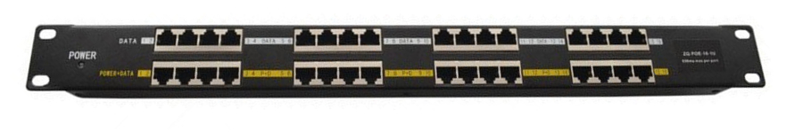 PANEL-16PORT-GB-POE 16 PORT GIGABIT POE PANEL INJECTOR