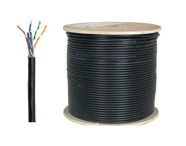 WINET-PRO-CAT6U-500 WINET CAT6-PE F/UTP - 23AWG 0.56mm SIYAH CAT6 - DIŞ ORTAM