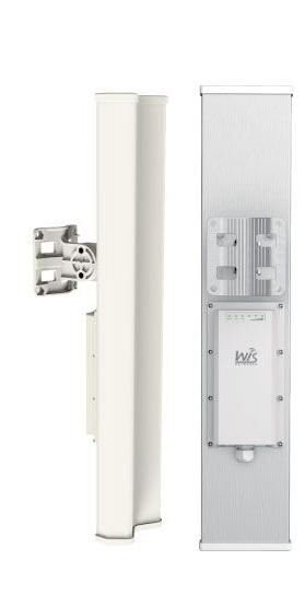 WIS-L2415S WisNetworks WIS-L2415S 2x2 Mimo 2.4 GHZ 120 derece dahili sektorlü antenli Baz Istasyonu